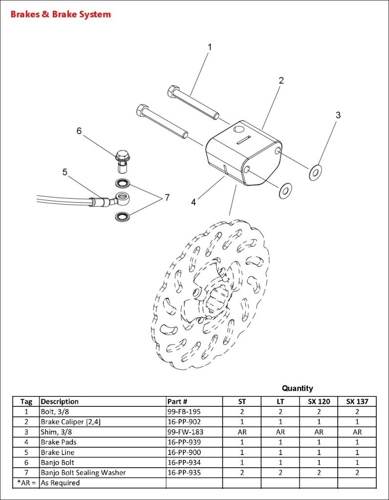 03 - Timbersled-2016-Brakes & Brake System